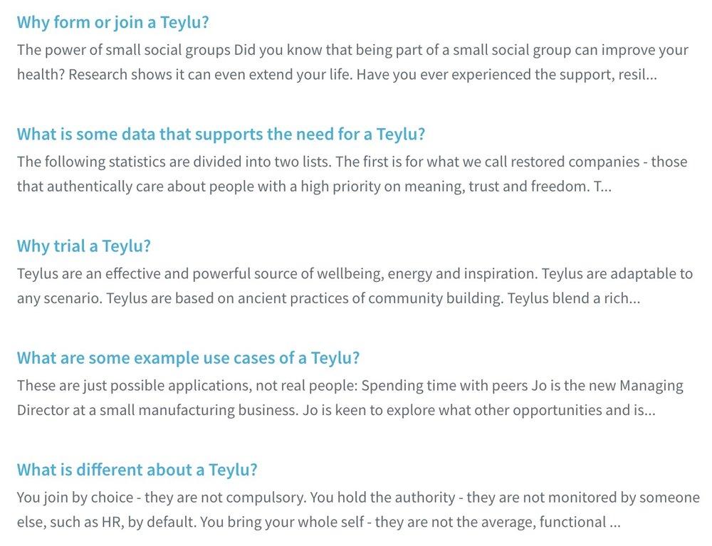Visit the Knowledgebase to read FAQs onWhy Teylu -