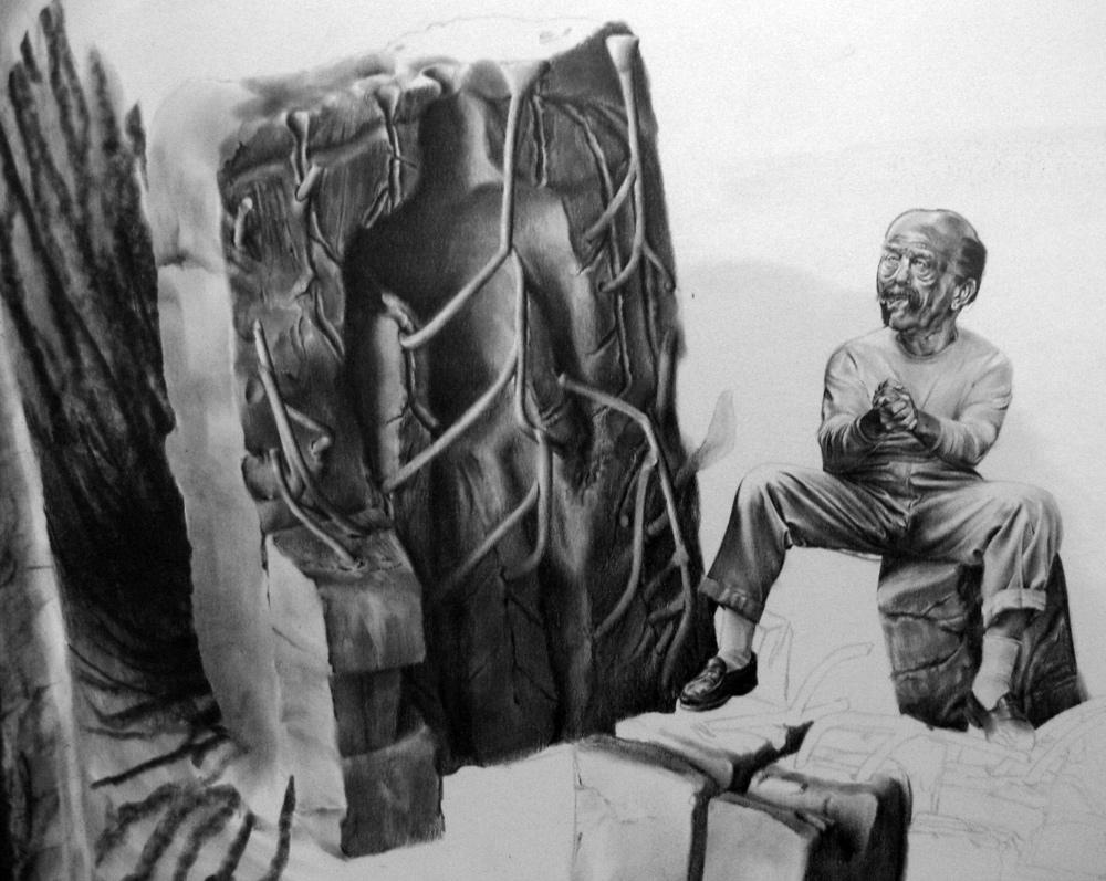 Robert McNally, Pencil on Paper.  Drawing.  Promnight Bolero.