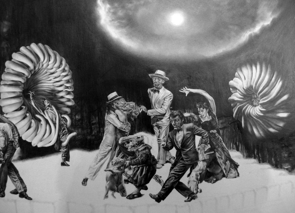 Robert McNally, Pencil on Paper.  Drawing.