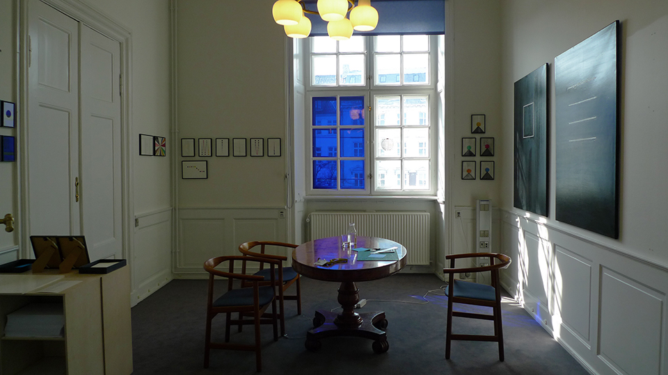 27.03 - 07.04.201  /Solo exhibition   The Danish Parliament , RS - 38,  Et Blåt Rum for Visdom Christiansborg.  Copenhagen Denmark.