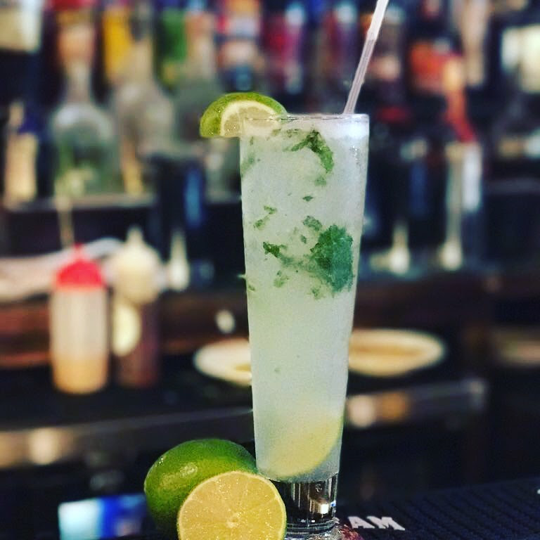 Cheers - We have different drink options: beer, wine, margaritas, cocktails and of course this cool mojito.