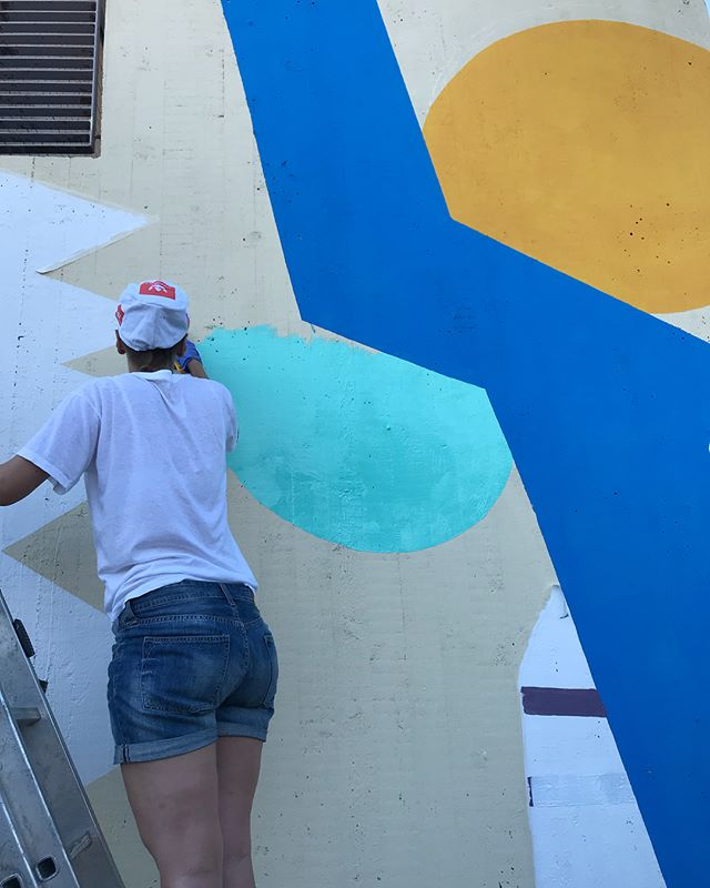 Day 3 - the project in process and all fine  #grexart #mural #ruralurbanart #urbanart #laitila