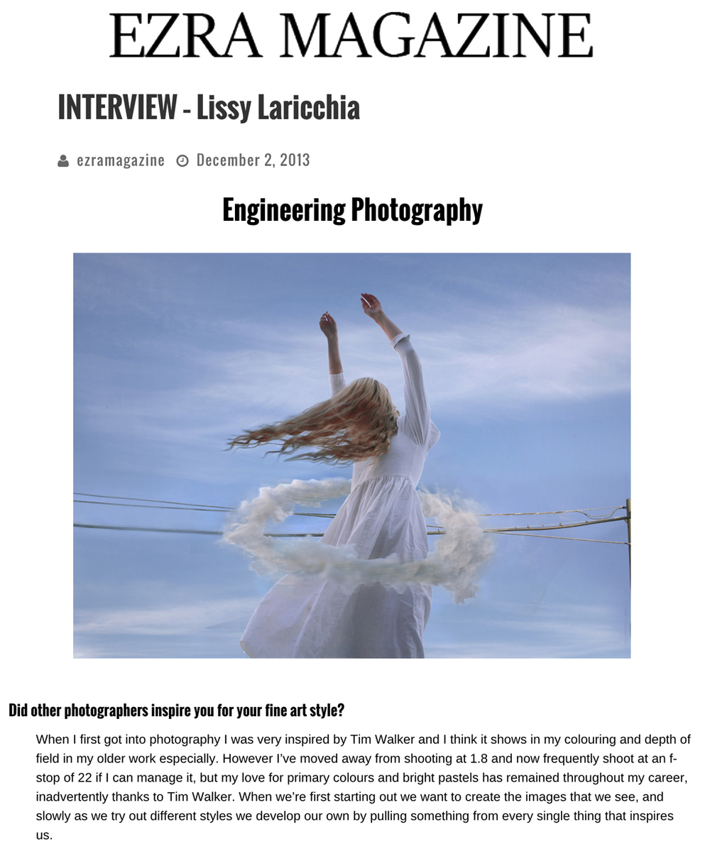 "<a href=""http://ezramagazine.com/2013/12/02/interview-lissy-laricchia/"">Click here to read full interview</a>"