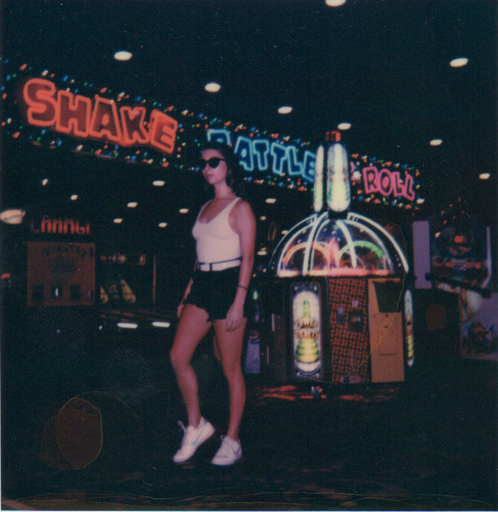 Polaroid of Cara in Circus Circus