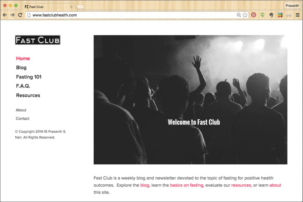 Homepage snapshot upon launch.