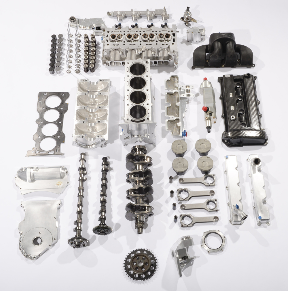 The parts that make up the DeltaWing engine