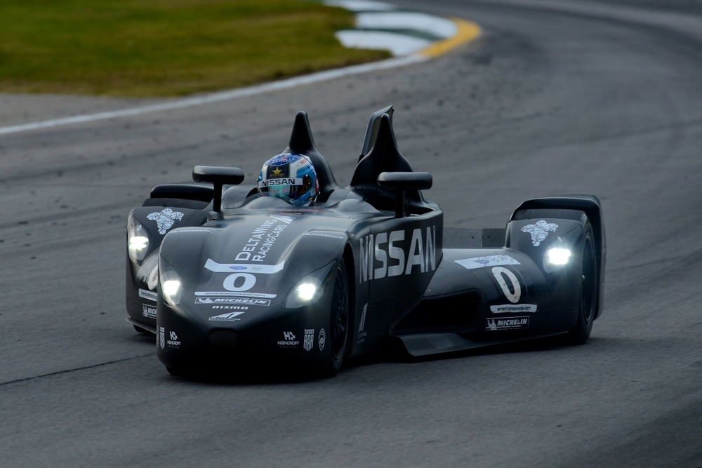 The DeltaWing racing the 2012 Petit Le Mans