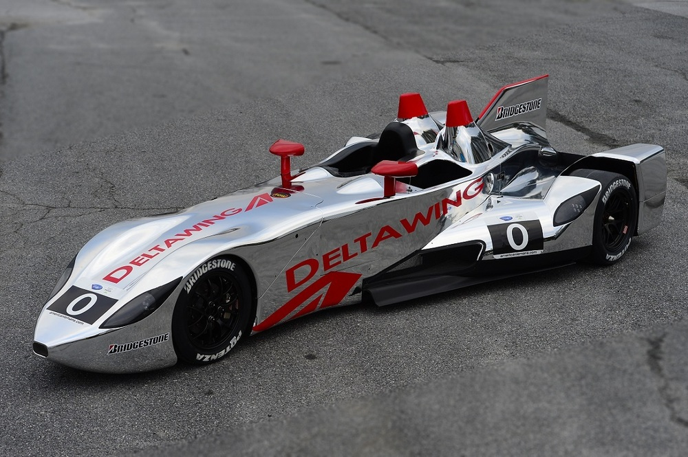 The DeltaWing Roadster's new chrome livery