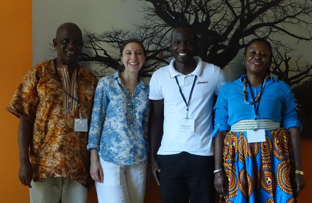 Sierra Leone team and their leadership coach