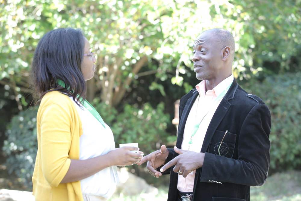 Alpha Bangura and Uzo Osikhena, the regional head of AMP Health