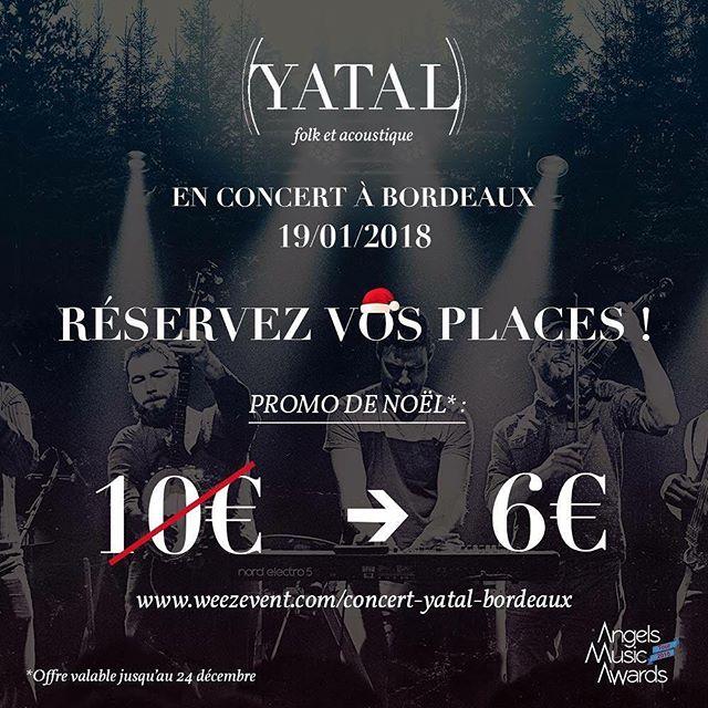 Profitez vite de l'offre spéciale Noël🎄 sur http://bit.ly/2B8BJmH #Concert #Bordeaux #indiefolk