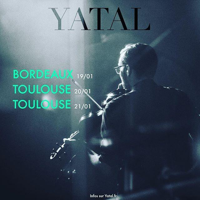 1ère tournée de l'année ! Toutes les infos et réservations sur www.yatal.fr #Bordeaux #Toulouse #Concert #Handpan #Hang #Violon #Folk #Indie #WorldMusic