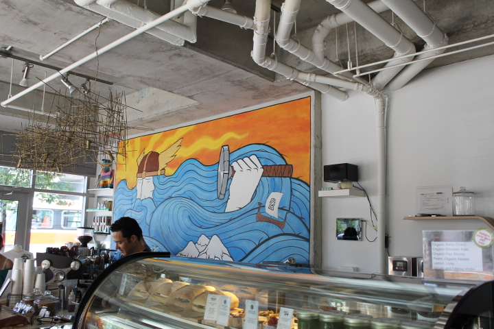 Picture of ocean painting in Thor Espresso Bar