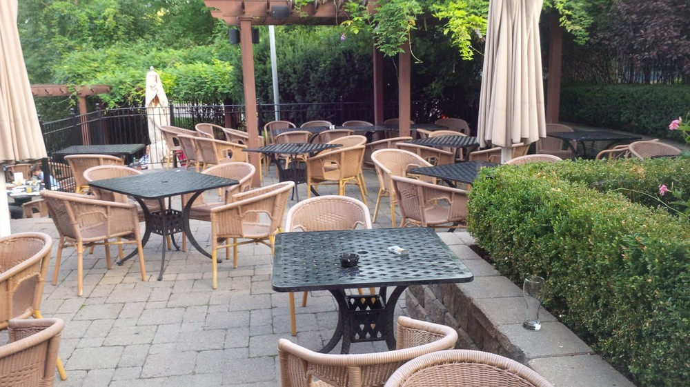 Picture of large, accessible patio.