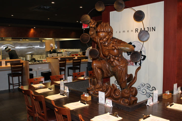 Picture of statue inside of restaurant