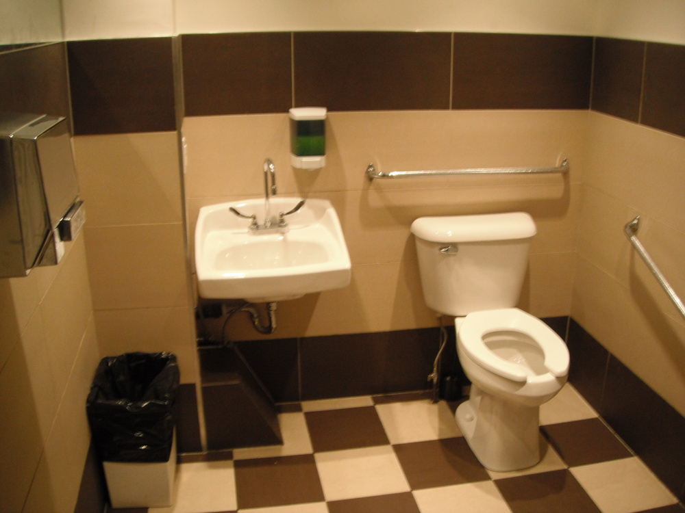 Picture of the accessible bathroom.