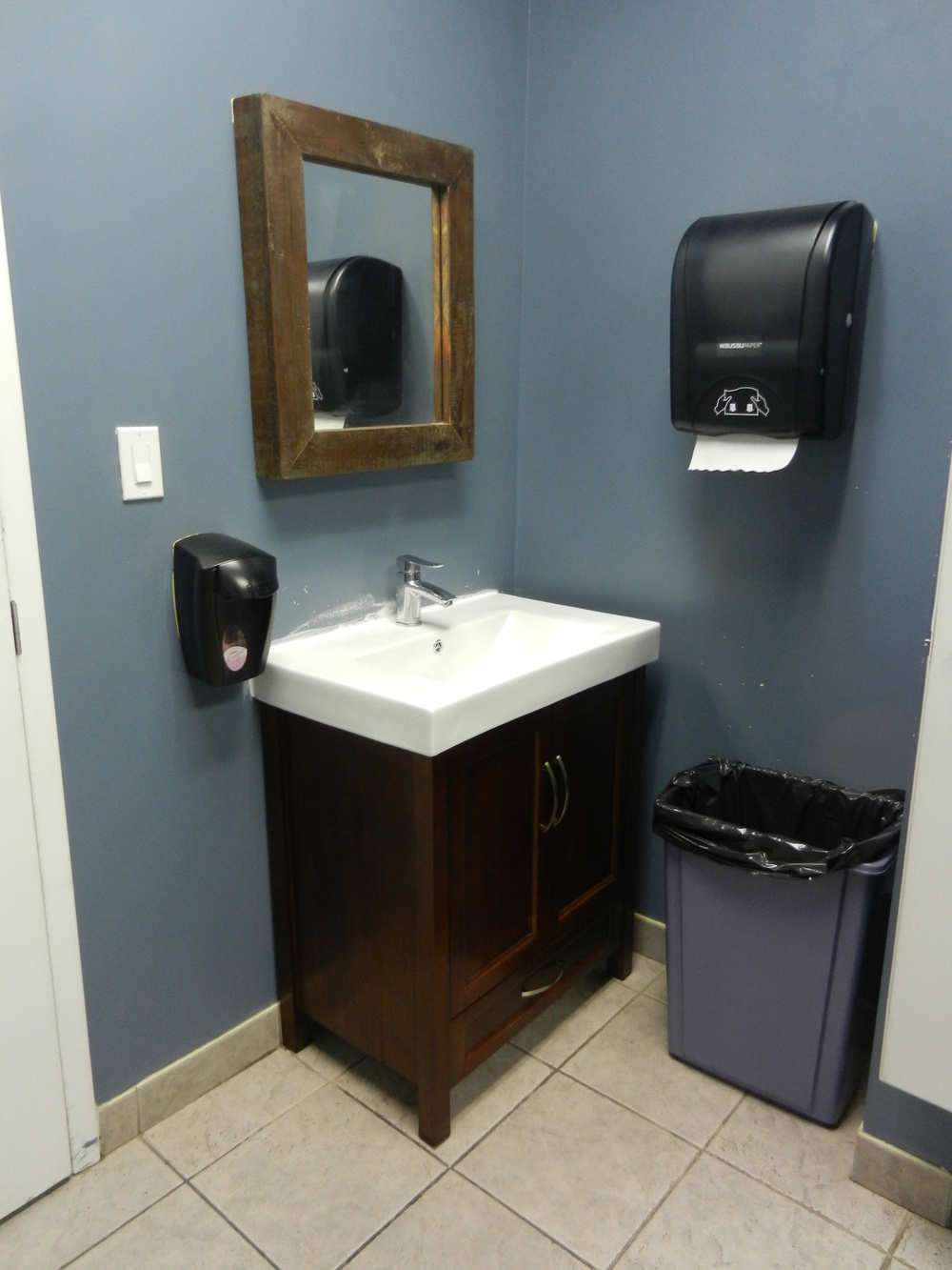 Picture of accessible bathroom (Sink area).