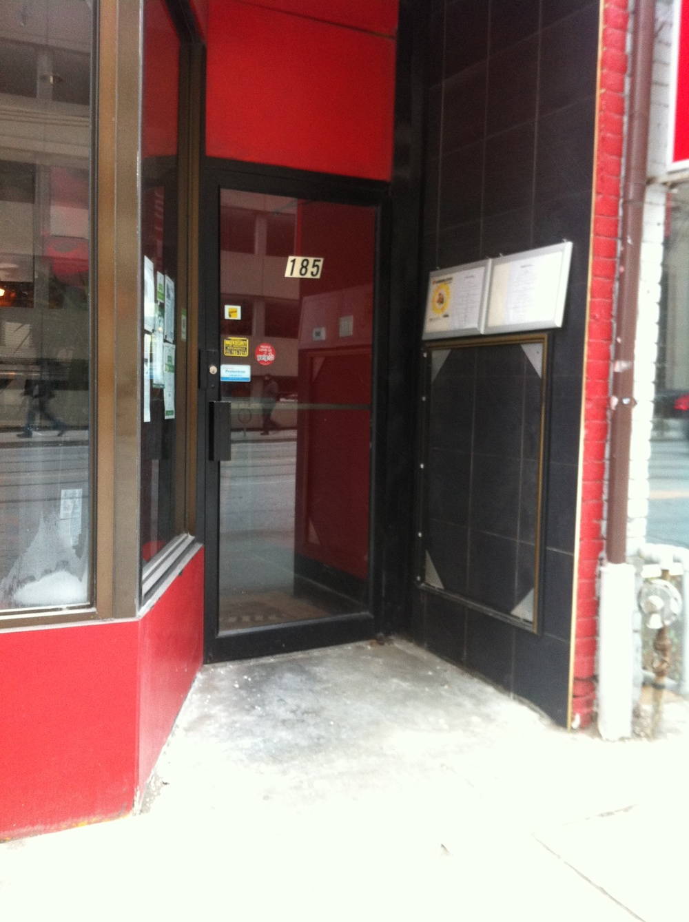 Picture of accessible entrance.