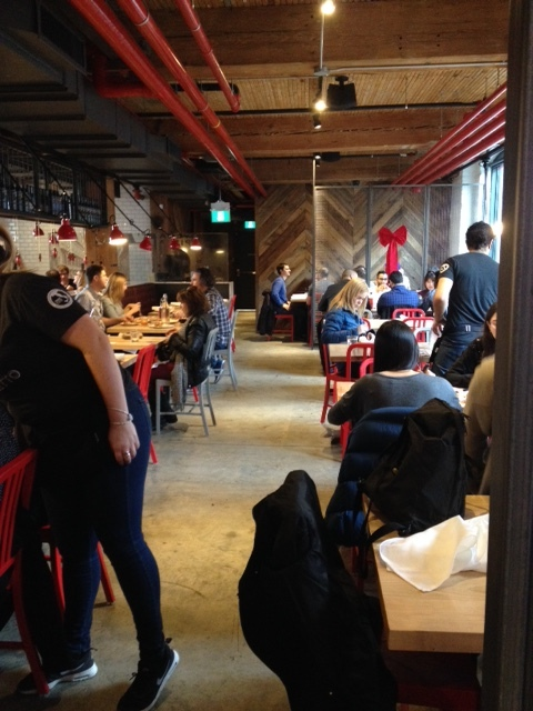 Picture of busy interior of Pizza Libretto