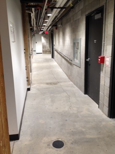 Picture of hallway to the accessible washroom