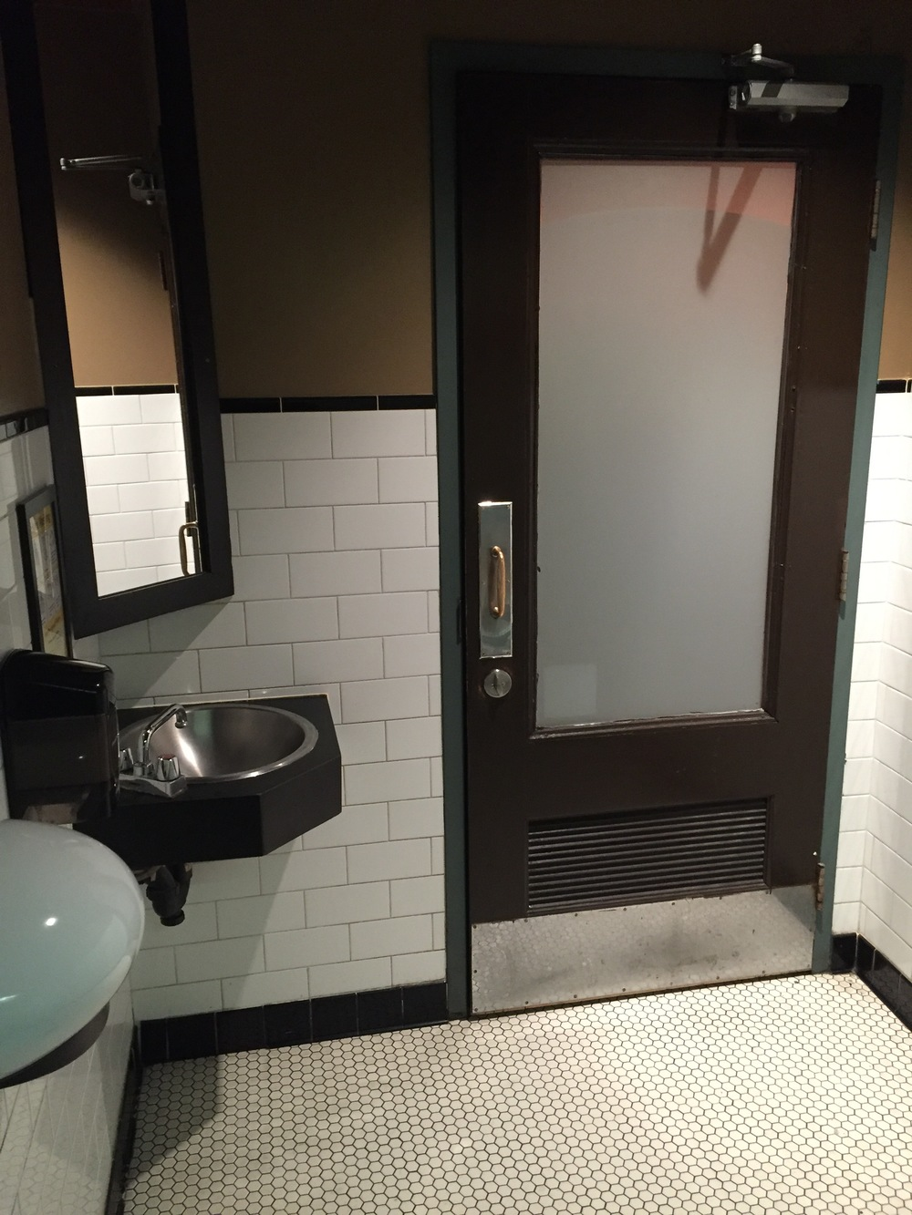 Picture of accessible entrance to the washroom