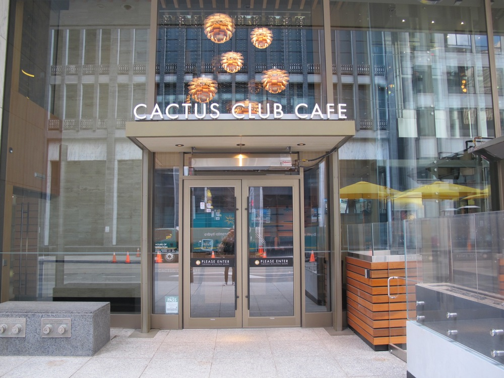 Picture of accessible entrance of the Cactus Club Cafe