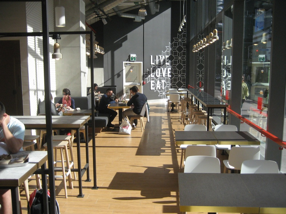 Picture of the accessible interior and tables of the Basil Box