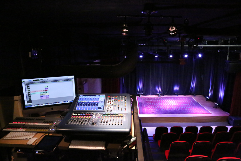 Picture of stage and seating