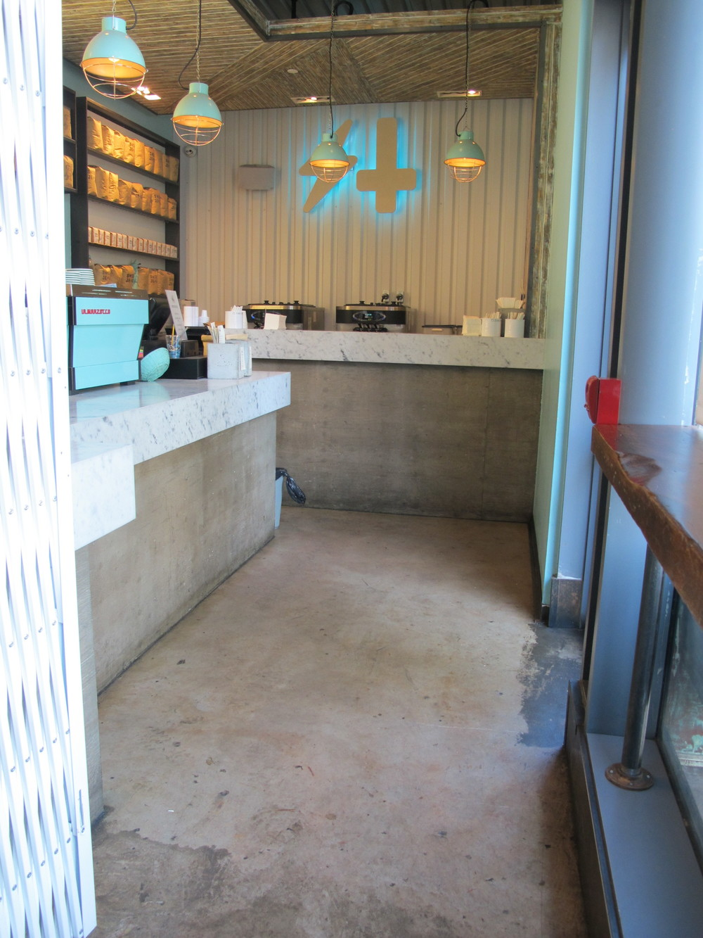 Picture of interior of cafe and ordering counter