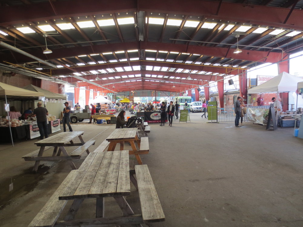 Picture of market at the Brickworks