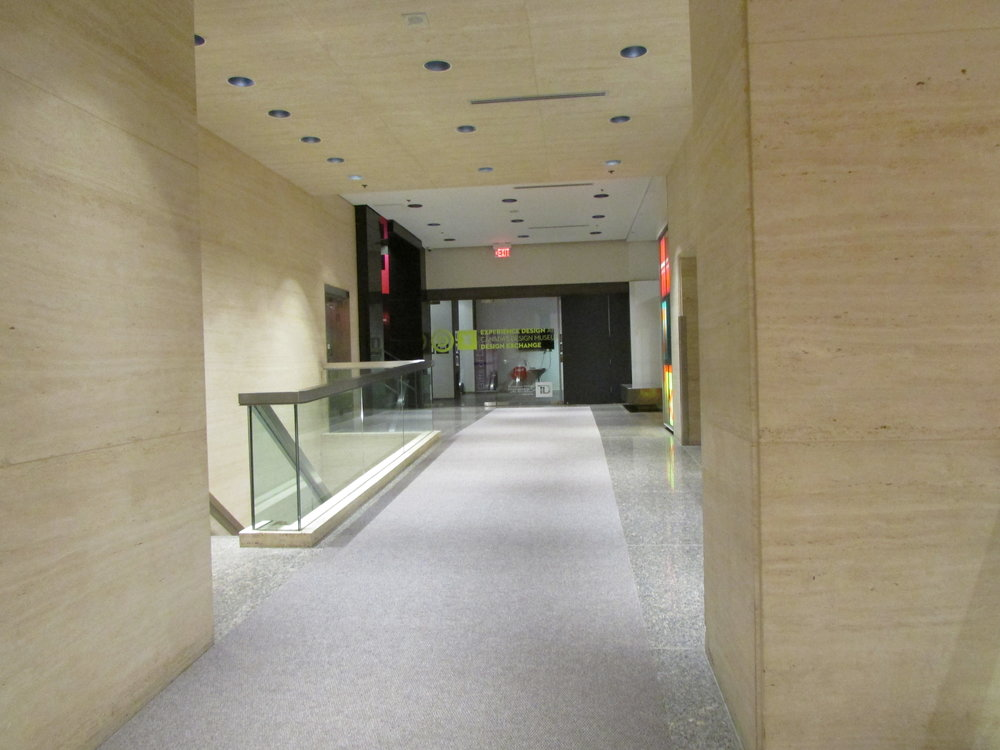 Spacious hallway to lobby and elevator banks