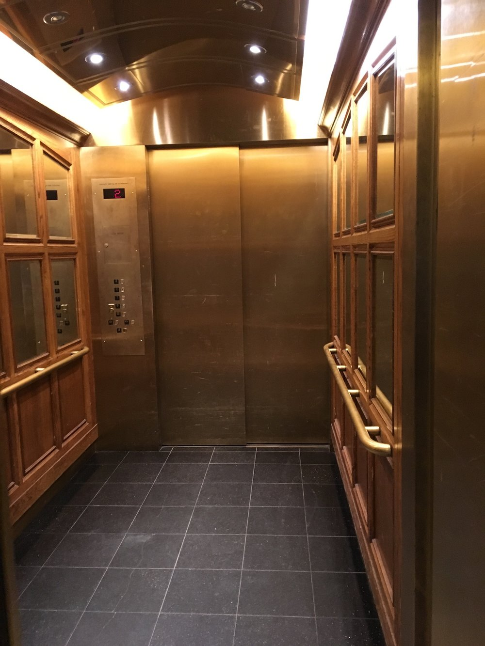 Picture of elevator to the second floor