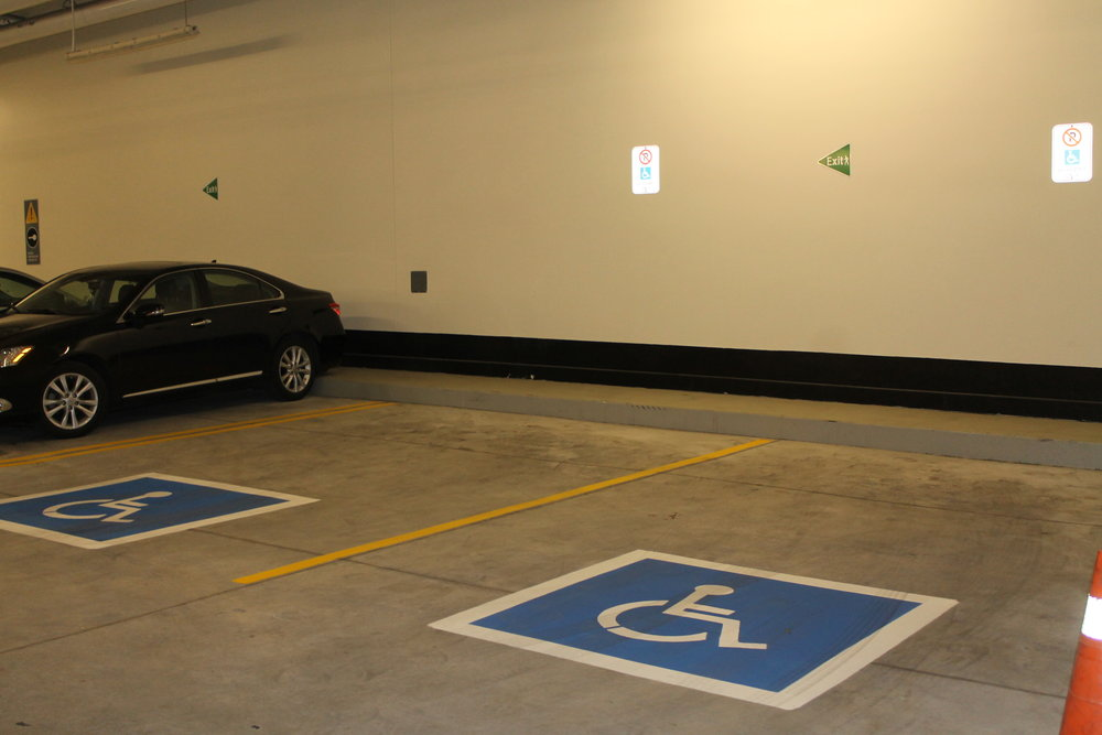 Picture of wheelchair accessible parking spots