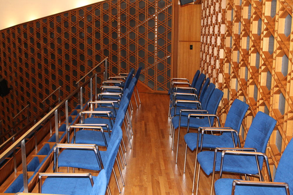 Picture of the seating in the auditorium