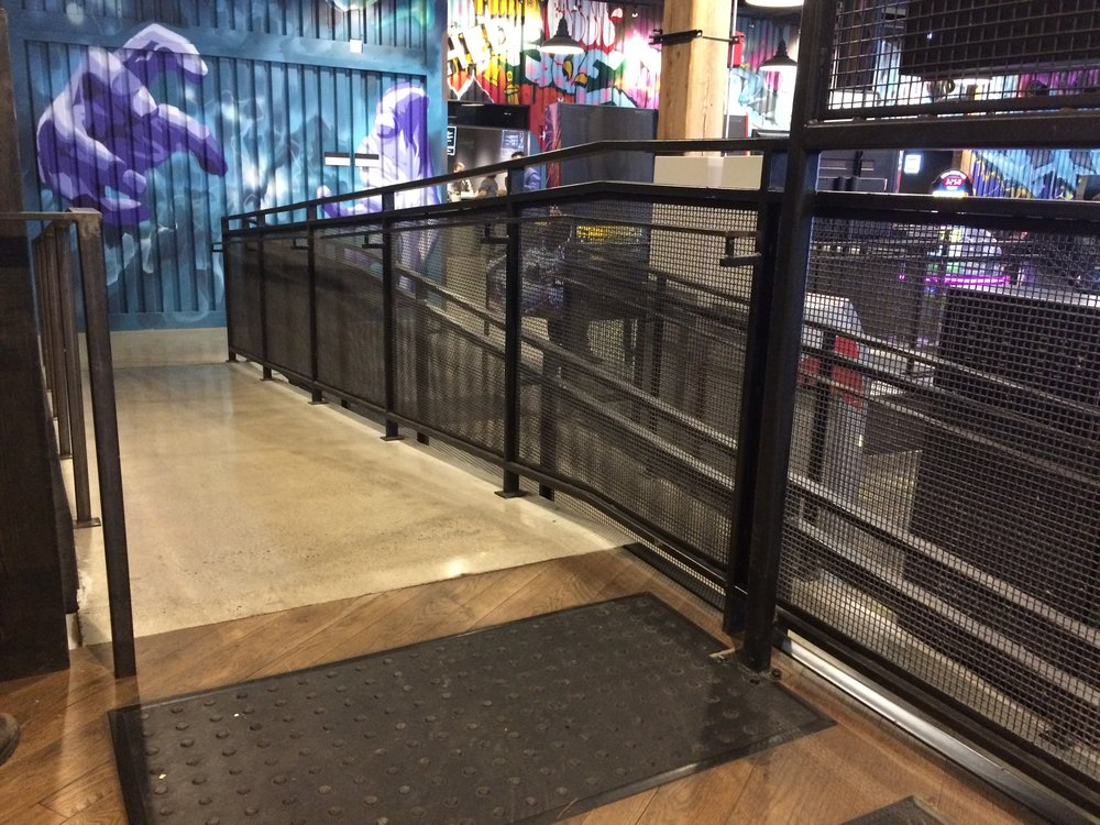 Picture of ramps within the Rec Room