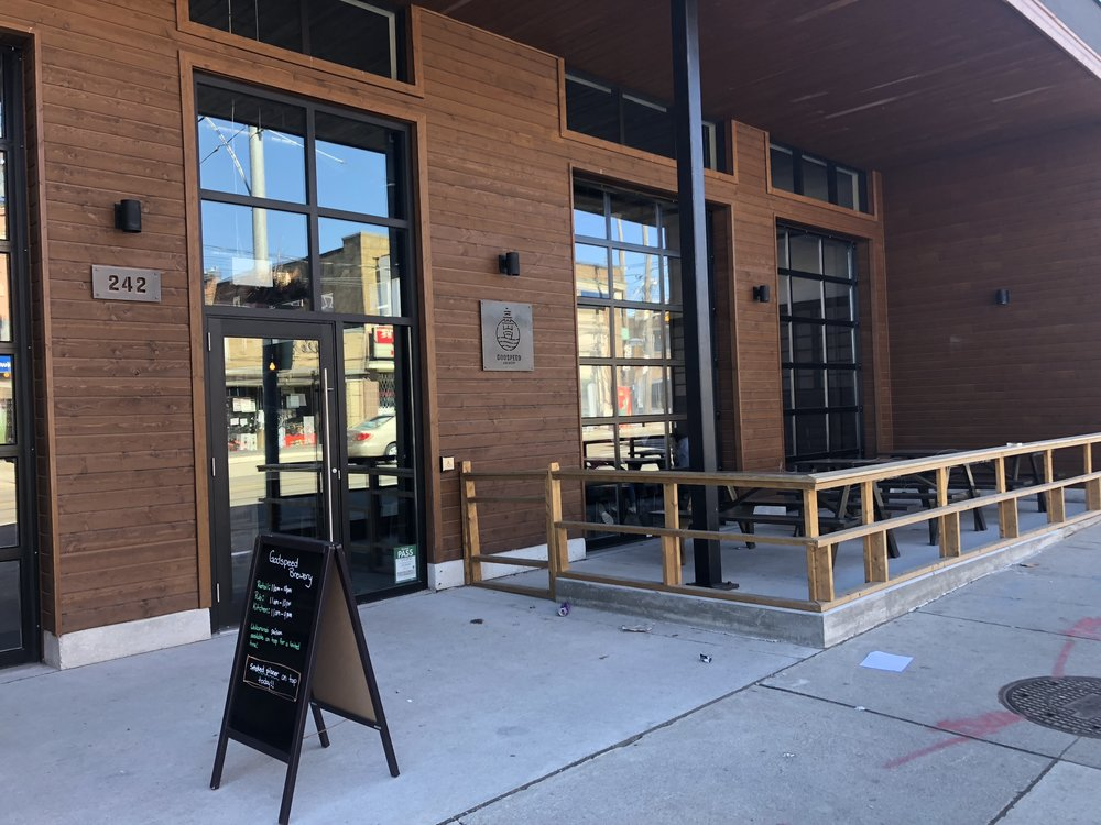 Picture of accessible entrance of Godspeed Brewery