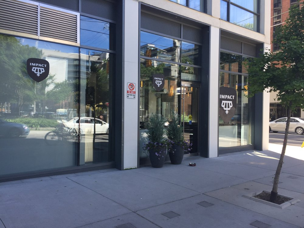 Picture of the accessible entrance of Impact Kitchen