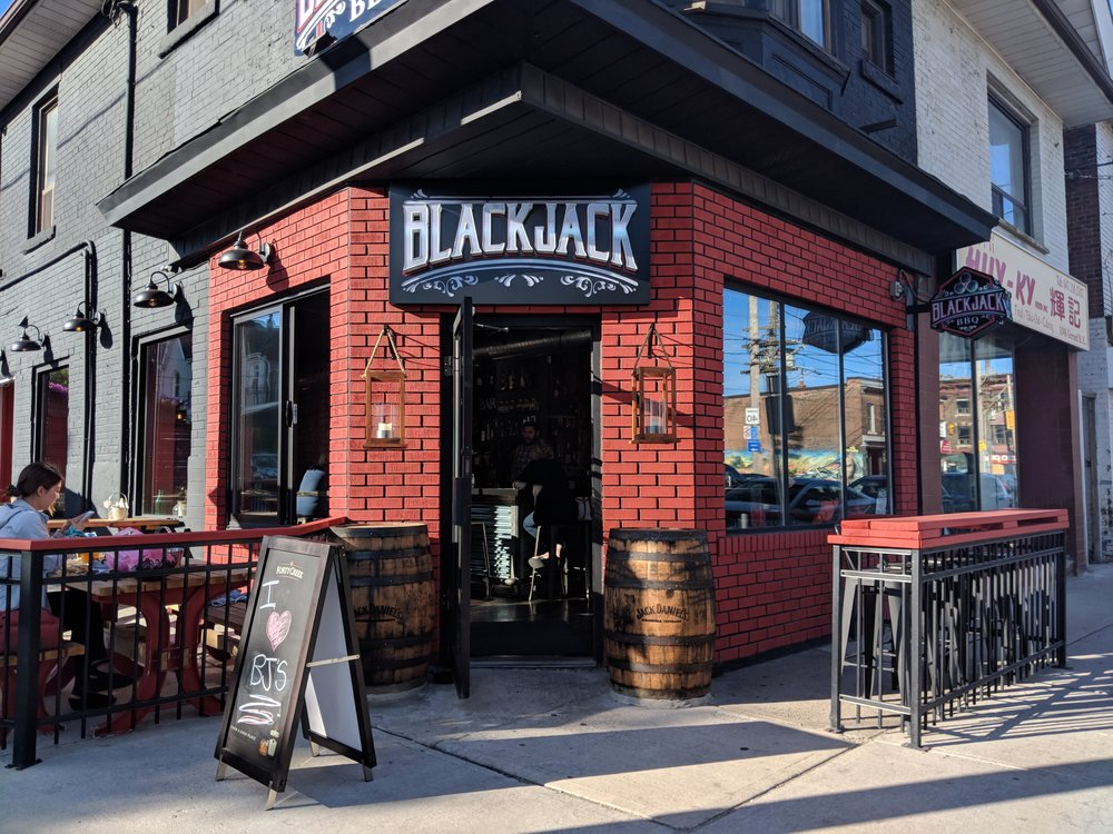 Picture of accessible entrance of BlackjackBBQ