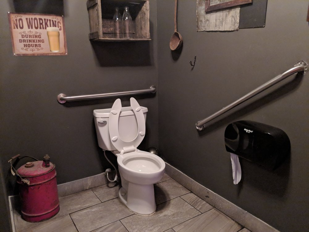 Picture of accessible washroom at Blackjack BQQ