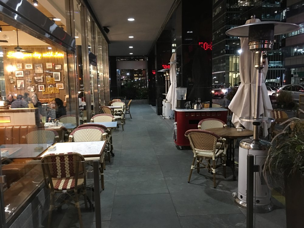 Picture of the patio outside of the entrance of Cafe Landwer