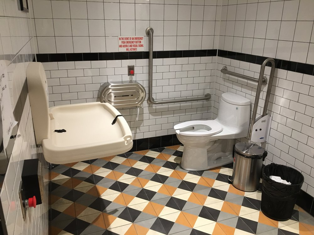 Picture of the accessible washroom at Cafe Landwer