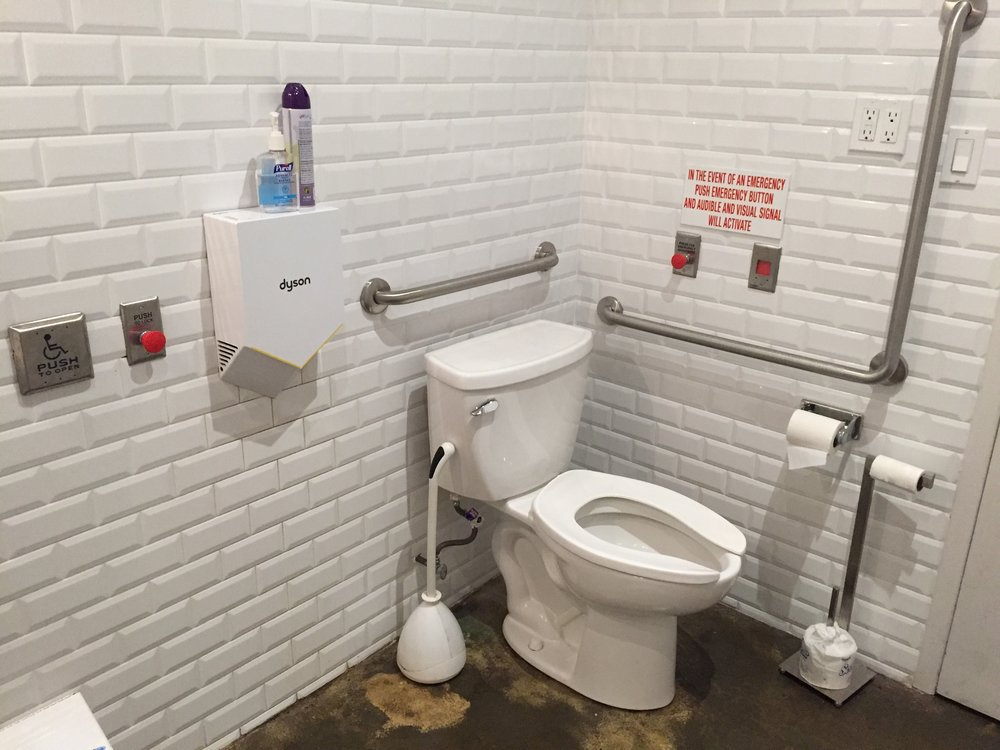 Picture of accessible washroom at the alternative cafe