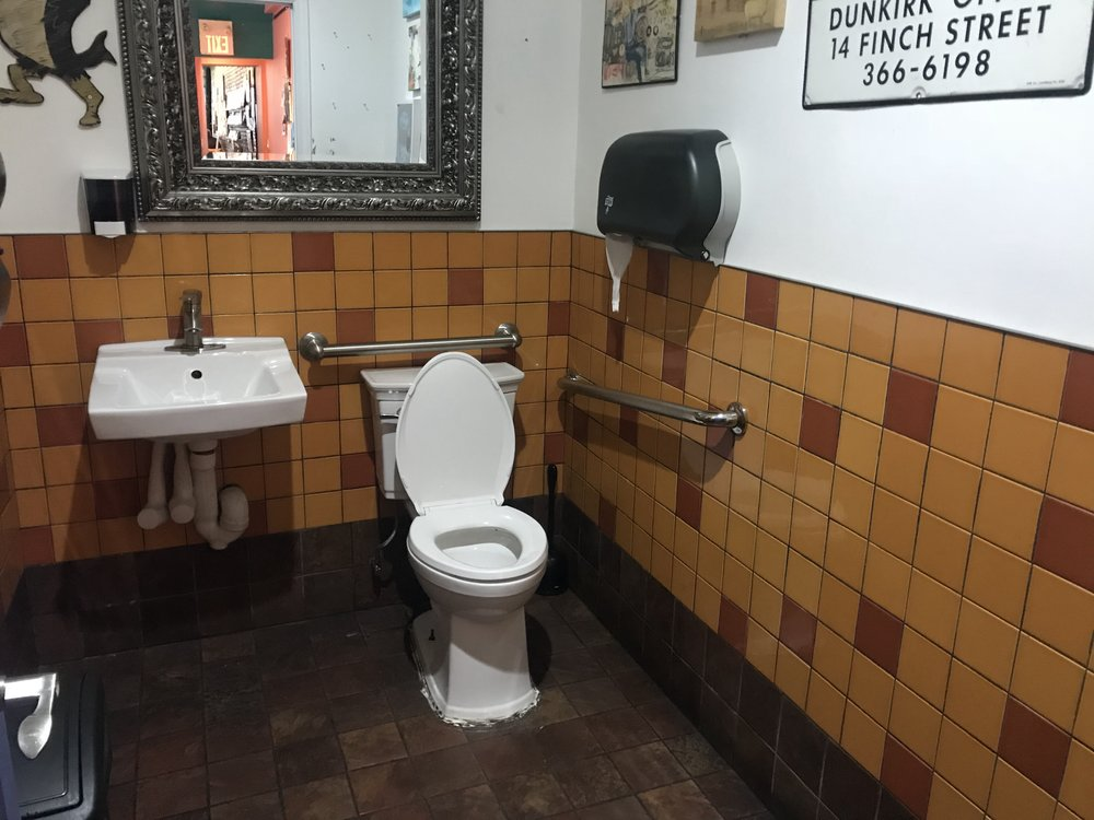 Picture of the accessible washroom at the Flying Pony