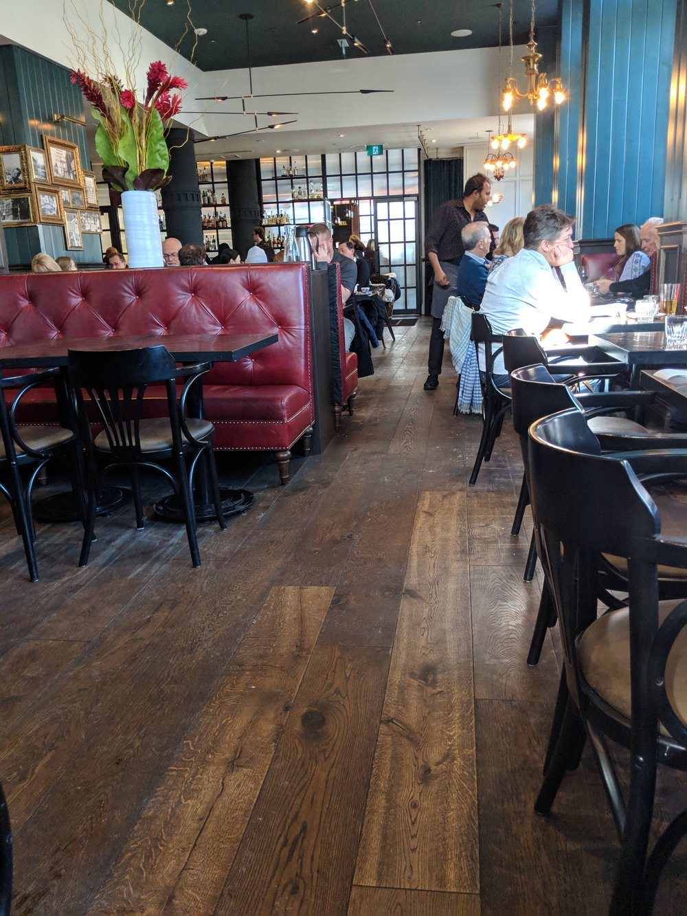 Picture of wide pathways in the Civic Restaurant