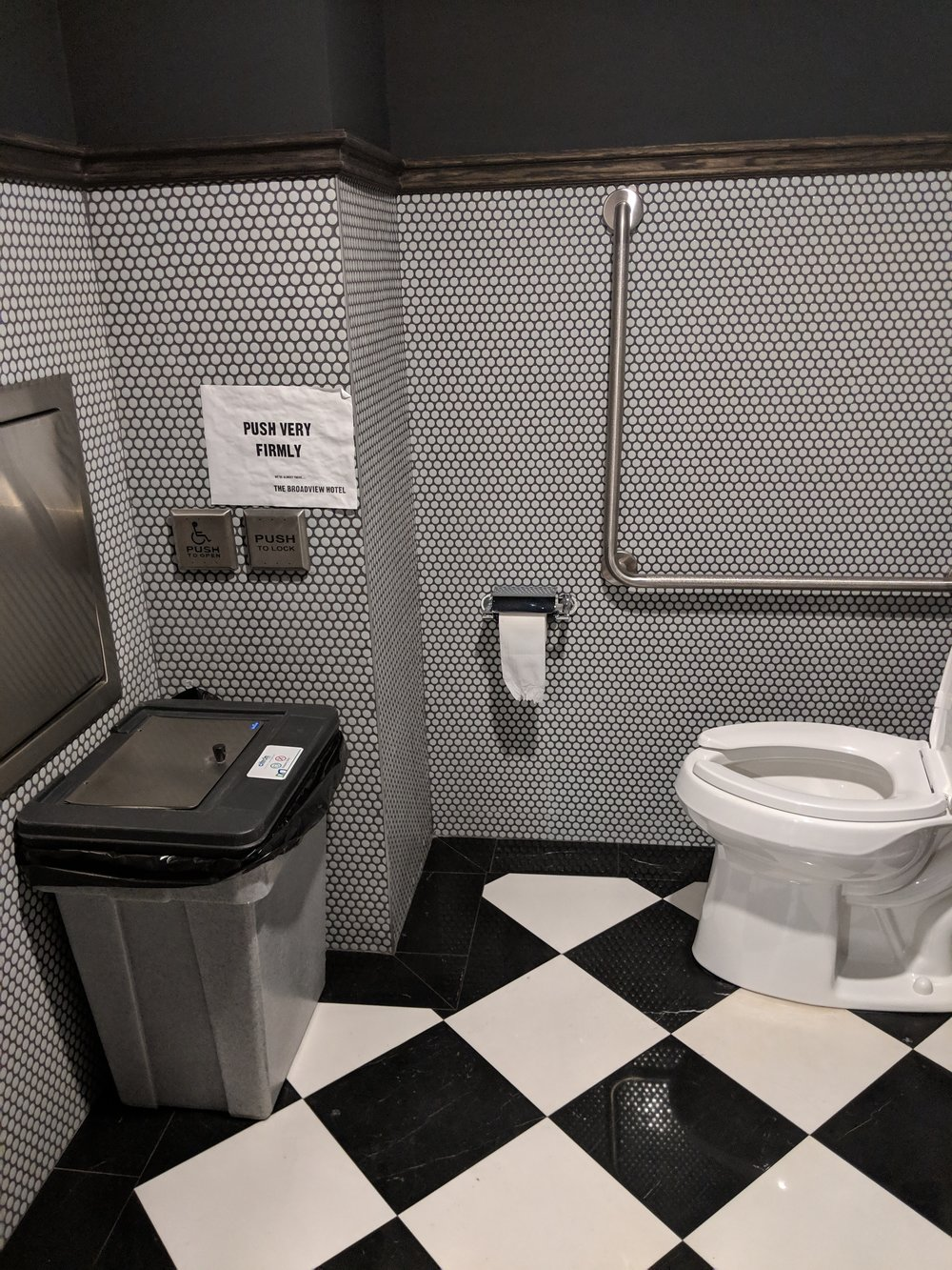 Picture of accessible washroom at Civic restaurant