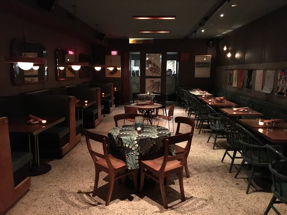 Picture of accessible dining area of the Peacock