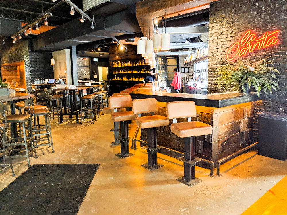 Picture of interior of La Carnita showing wide pathways