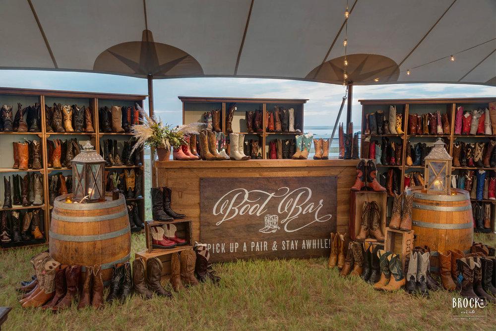 cowboy boot bar