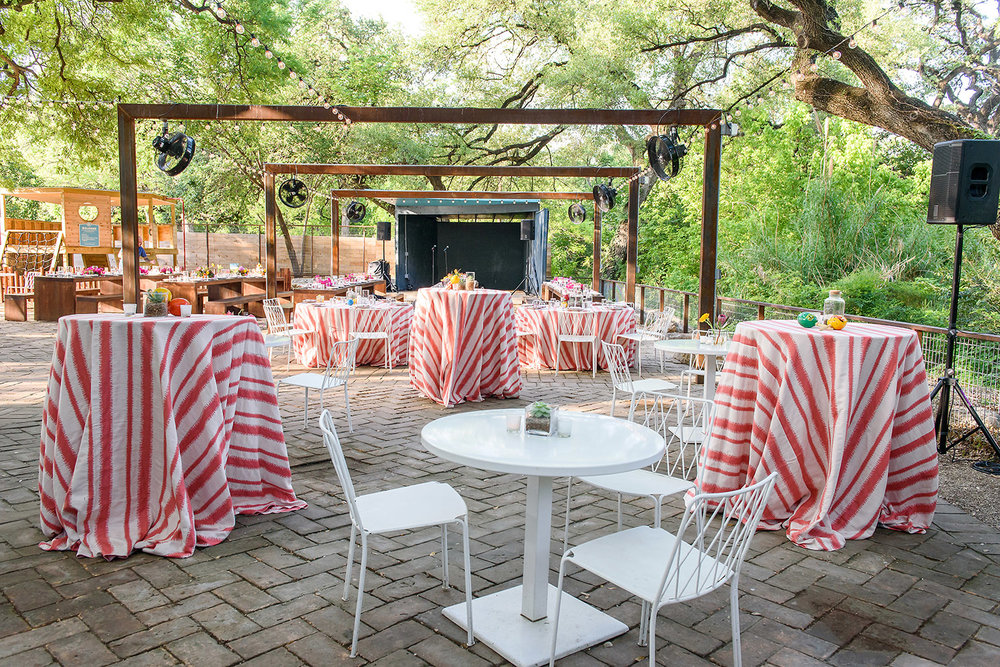 red and white striped outdoor fiesta