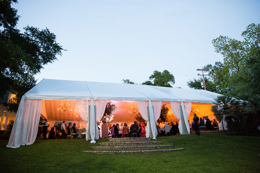 large white reception tent